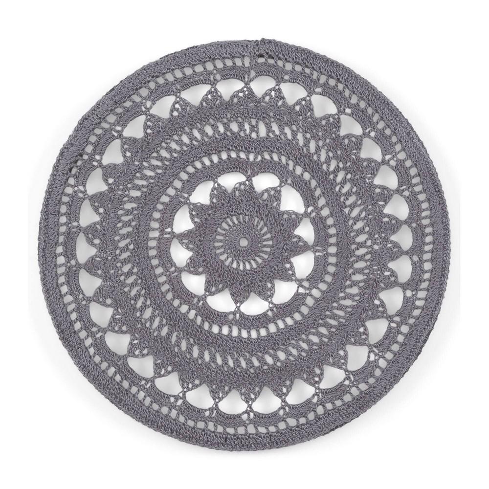 Free Crochet Gray Stone Mandala Pattern