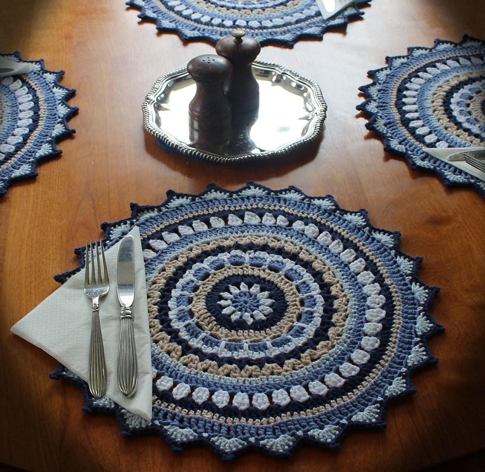 Free Crochet Mandala Placemats Pattern