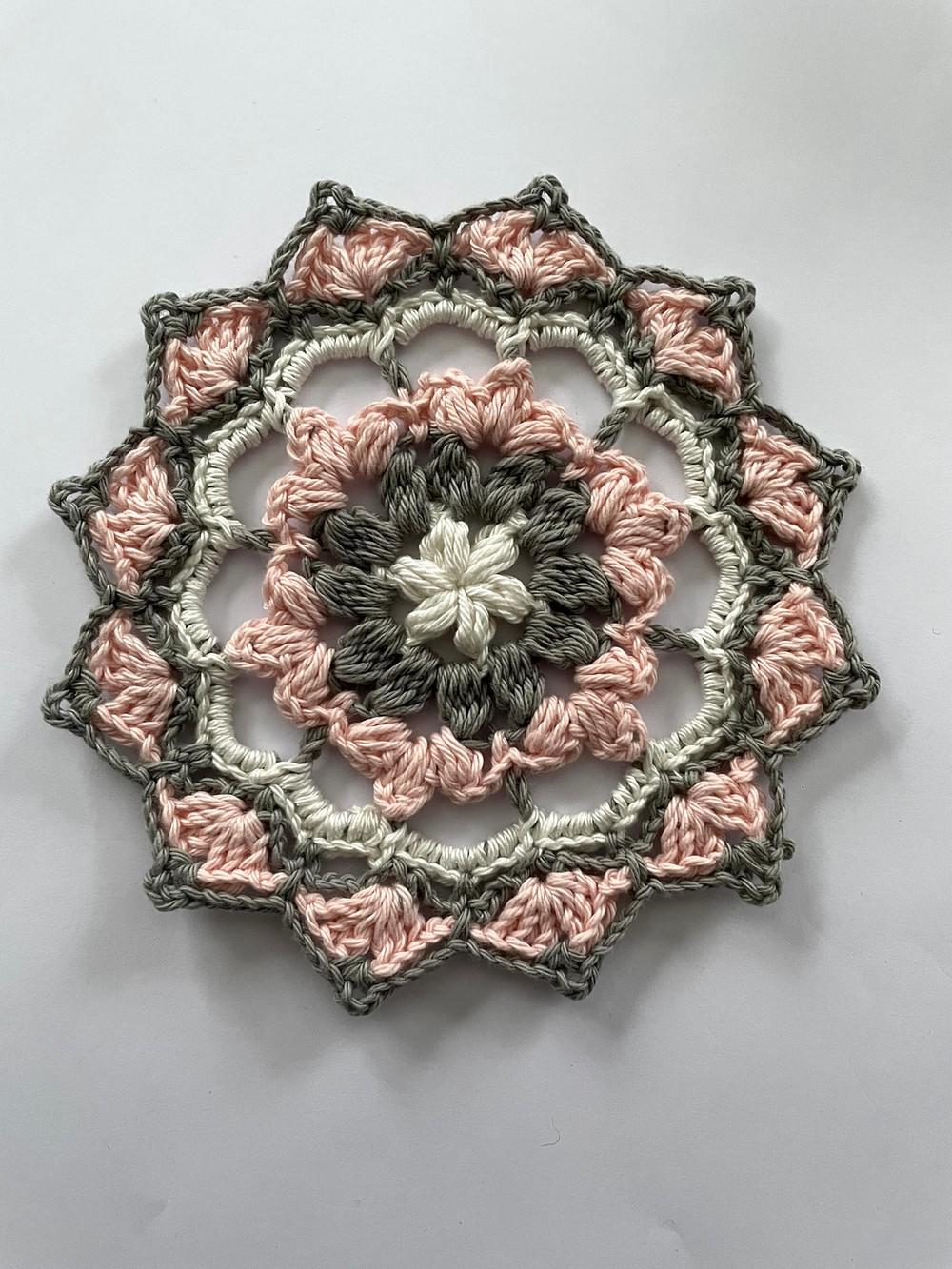 Free Crochet One Mini Mandala Pattern