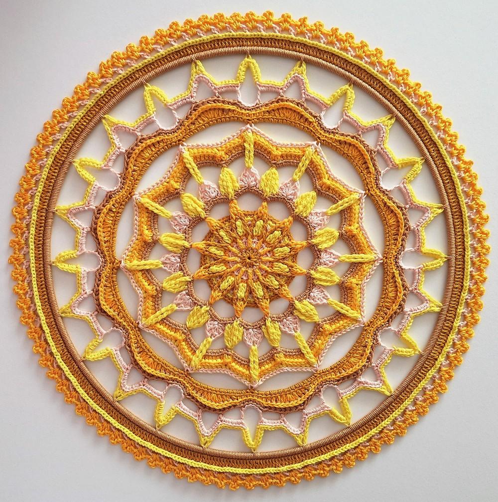 Free Crochet Traces In The Sand Mandala Pattern