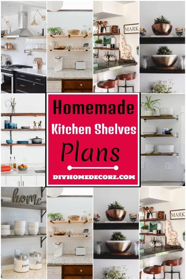 Homemade Kitchen Shelves Plans 1