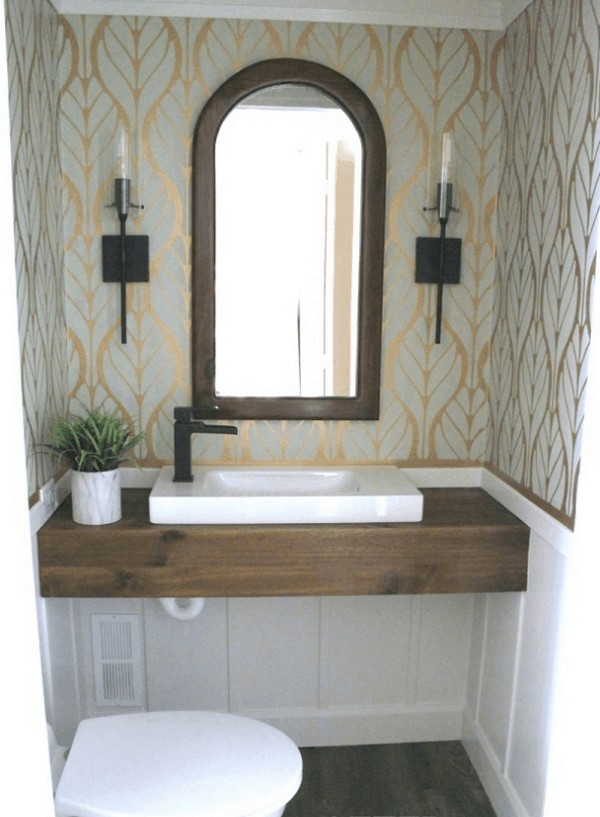 How To Build A DIY Floating Wood Vanity For Less Than $30