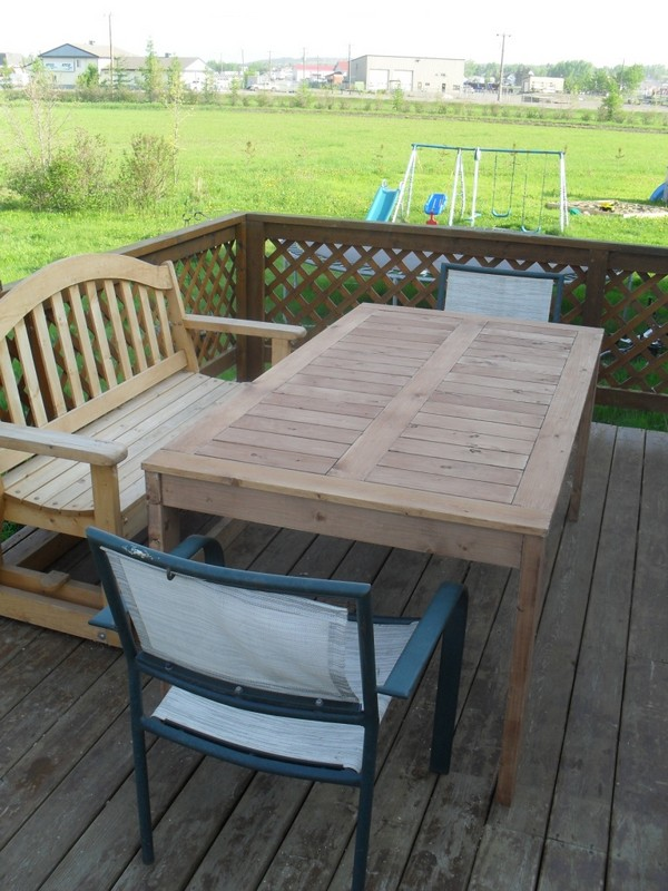 Modified Simple Outdoor Dining Table