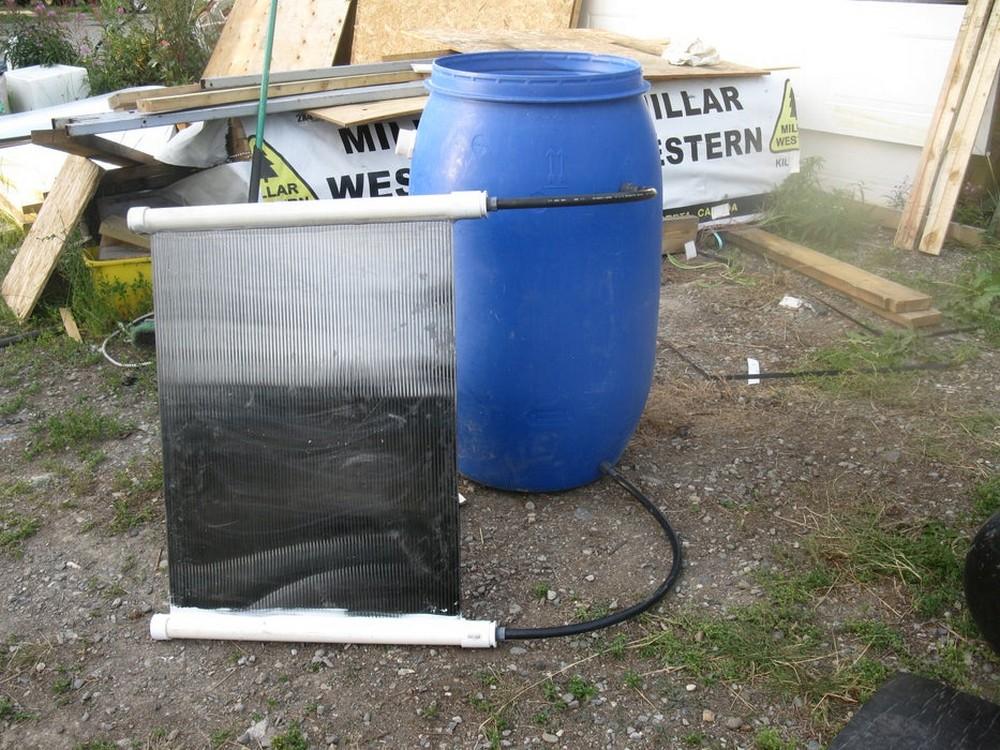 Passive Water warmer idea