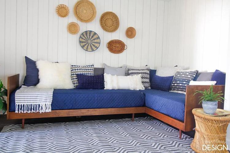 Plywood Midcentury Daybed DIY